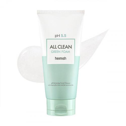 Пенка для умывания Heimish с pH 5.5 All Clean Green Foam 150мл